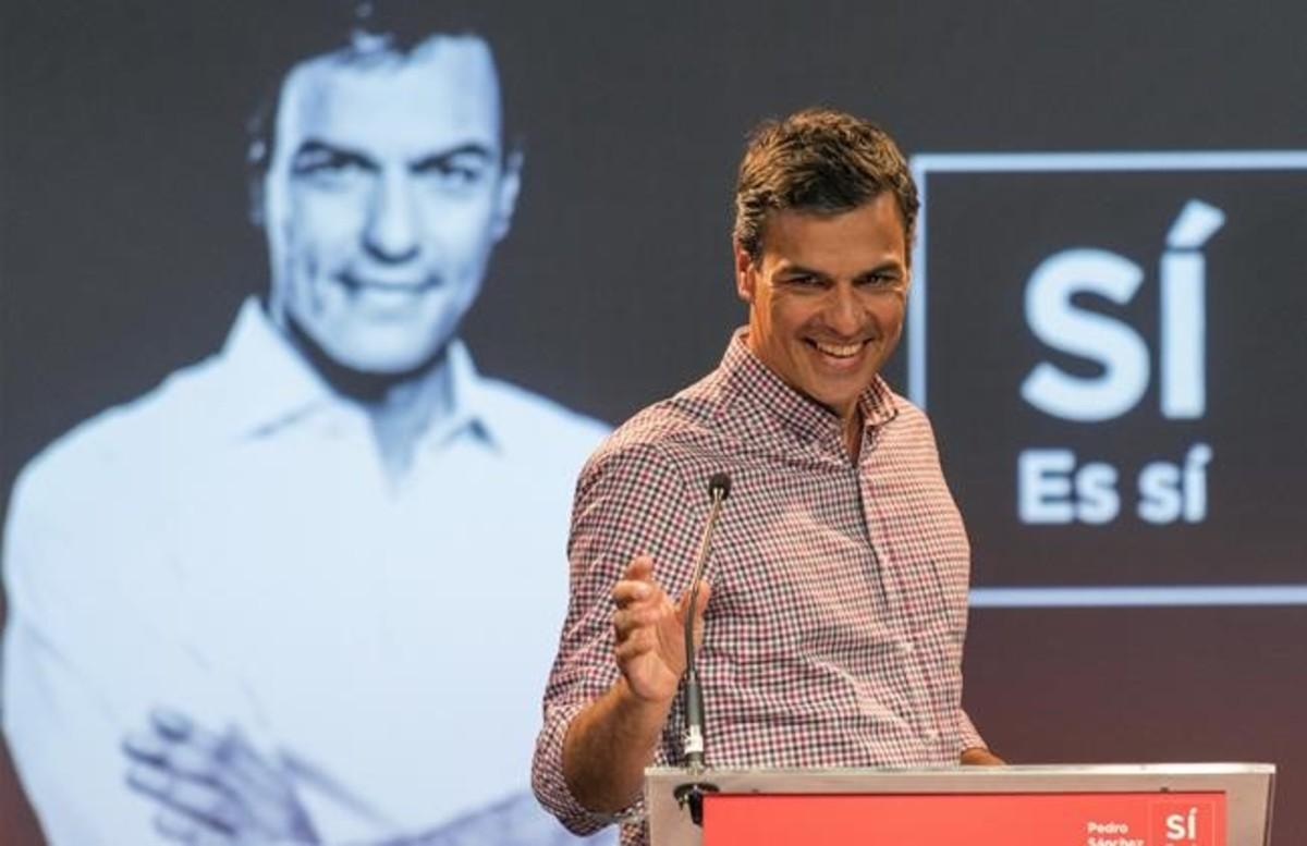 Pedro Sánchez, durante un acto celebrado en Palma el pasado mes de abril.