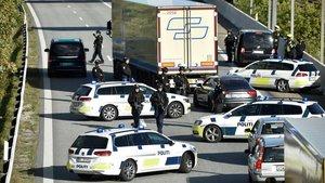 La Policia cierra el puente de Oresund, junto a Copenhague