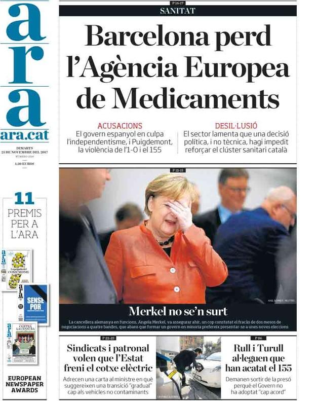"""La derecha mediática culpa al """"separatismo"""" del portazo europeo a BCN"""