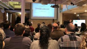 Presentación de la agencia de comunicación StoryData en el marco del Open Data Day 2018, en Barcelona.