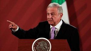 El presidente de México, Andrés Manuel López Obrador, durante una rueda de prensa este martes.