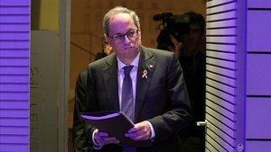 El President Quim Torra en el Palau de la Generalitat,