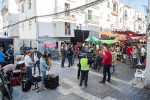 Una de las localizaciones donde Richard Gere rueda'MotherFatherSon' en Sevilla.