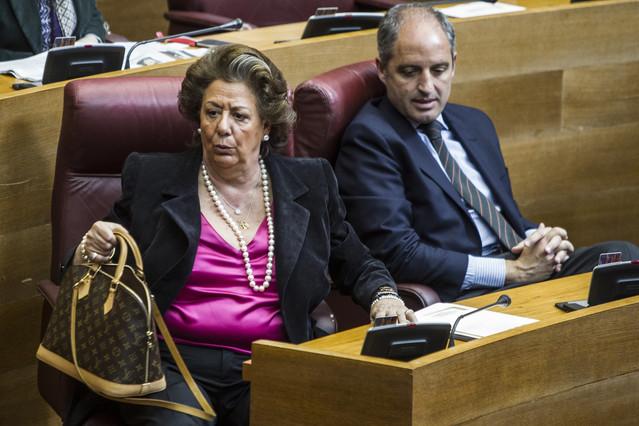 Rita Barberá, junto a Francisco Campsen las Cortes Valencianas en el 2013.