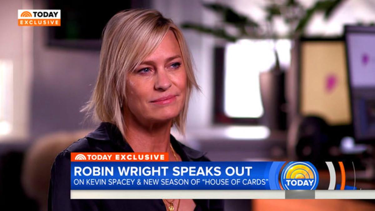 Robin Wright, en una entrevista en Today, programa de la cadena estadounidense NBC.