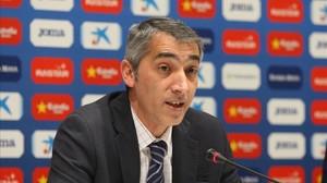 Ramon Robert, en una rueda de prensa.