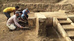 La sala de ceremonias de Ramsés II recién descubierta.
