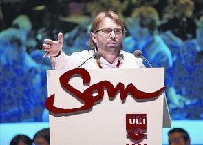 El secretario general de UGT de Catalunya, Camil Ros, en el congreso del sindicato en abril del 2016.