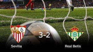 El Sevilla vence 3-2 y se lleva los tres puntos