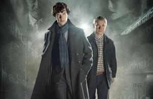 Benedict Cumberbatch y Martin Freeman, los protagonistas de Sherlock.