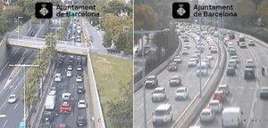 La situación del tráfico en Barcelona esta tarde.