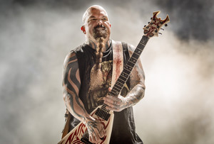 Kerry King, de Slayer, durante un concierto en Santa coloma de Gramenet en el 2016