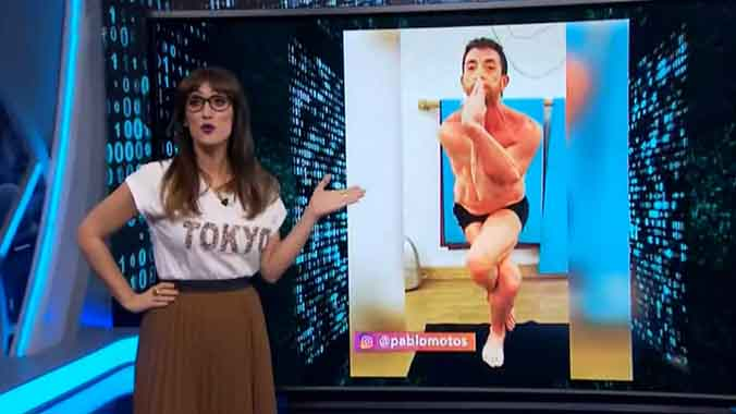 El yoga de Pablo Motos (El hormiguero).