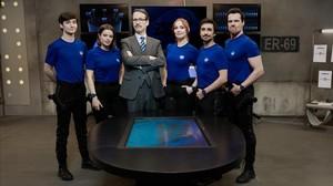 Los cinco protagonistas de la serie Cuerpo de élite, de Antena 3.