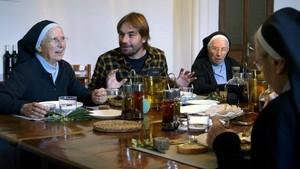 Quim Masferrer, en el programa de TV-3 'El foraster' dedicado al Monestir de Sant Daniel.