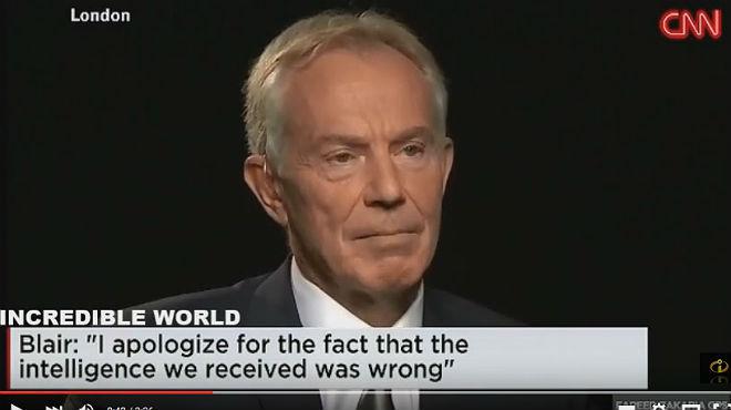 Tony Blair, durante la entrevista con la CNN