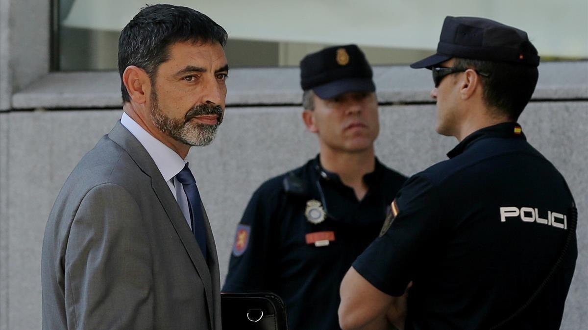 Trapero, en una imagen de archivo,yendo a declarar ante la jueza.