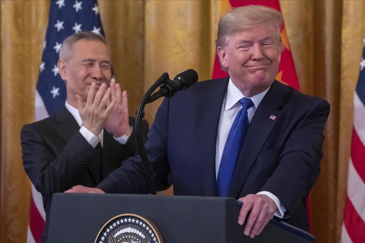 Trump, en un acto en la Casa Blanca.