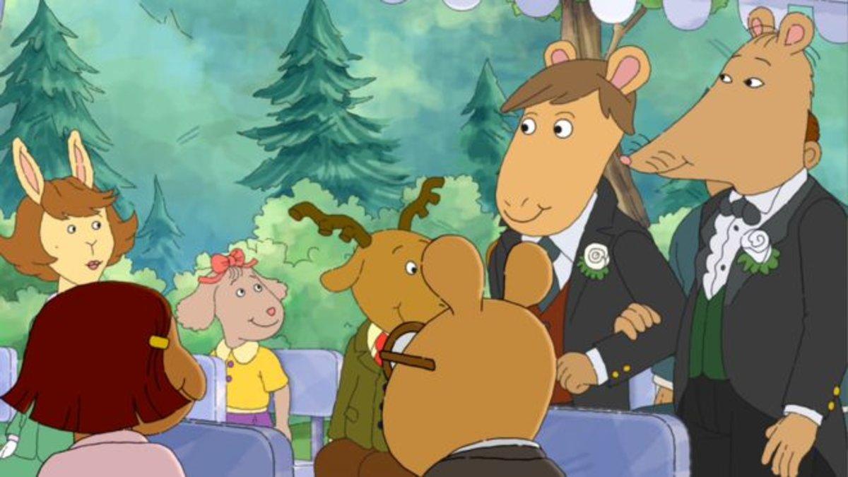 Una escena del episodio prohibido de 'Arthur'.