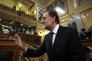 Rajoy ensenya el botó vermell