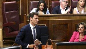 Albert Rivera, el pasado 22 de julio, el primer día del debate de investidura.