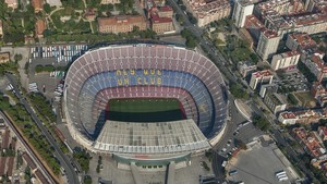 Vista aerea del Camp Nou.