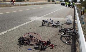 Mor un ciclista en un xoc frontal contra un cotxe a Tarragona