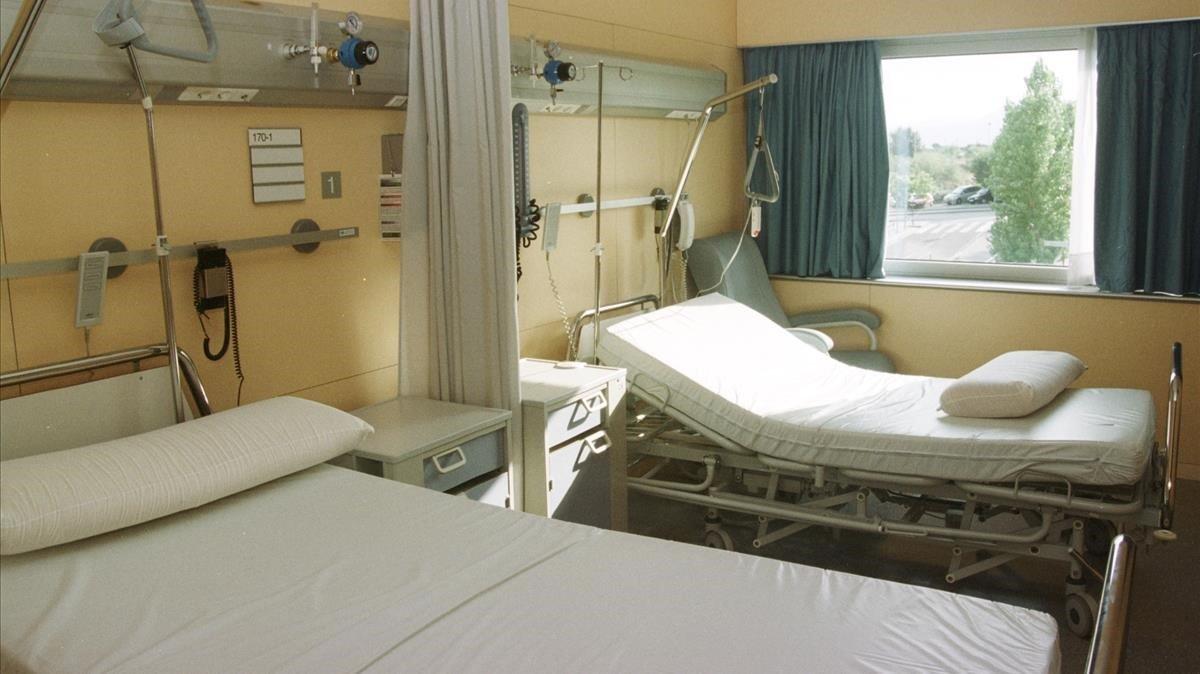 Camas de hospital.