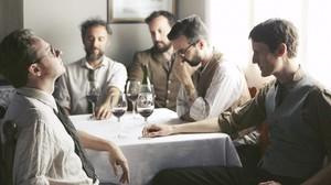 Imagen promocional de Mishima, con David Carabén (a la izquierda).