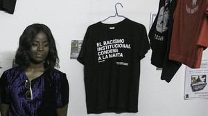 Fatou, una de las monitoras de la Escuelita Antiracista del Sindicato.