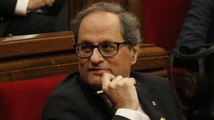 Torra apressa per carta Rajoy a desbloquejar el Govern