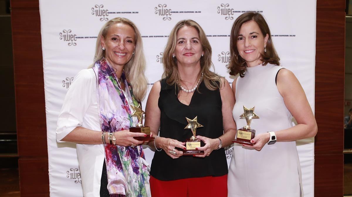 Tres empresàries espanyoles premiades per la xarxa internacional d'emprenedores IWEC