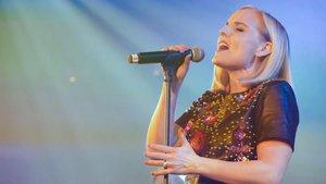 La cantante británica Kerry Ellis, durante uno de sus conciertos.