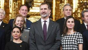 Els Reis entreguen les Medalles d'Or de Belles Arts 2017
