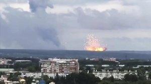 Explosión en una base militar de Rusia.