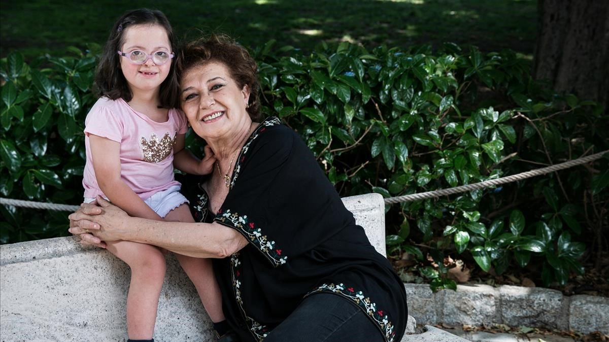 Beatriz Carvajal, con Jimena.