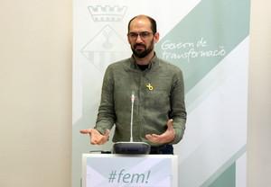 El alcalde de Sabadell, Maties Serracant, presenta los presupuestos municipales para 2018.