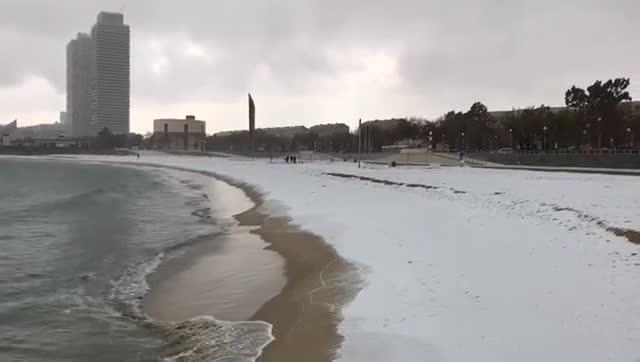 Playa de la Nova Icària de Barcelona