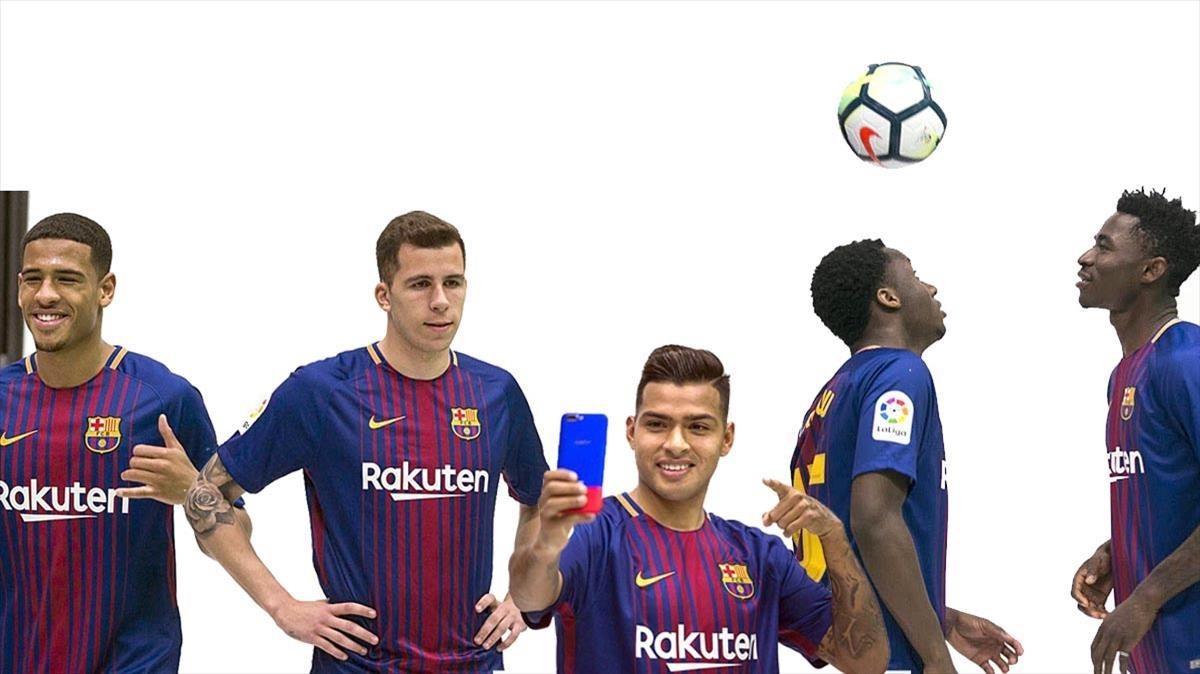 McGuane, Rivera, Nahuel, Ballou y Hongla, los cinco fichajes invernales del Barça B.