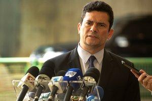 El ministro designado de Justicia en BrasilSergio Morohabladurante una rueda de prensa en el Centro Cultural Banco do BrasilCCBBen BrasiliaBrasilEFE Joedson Alves
