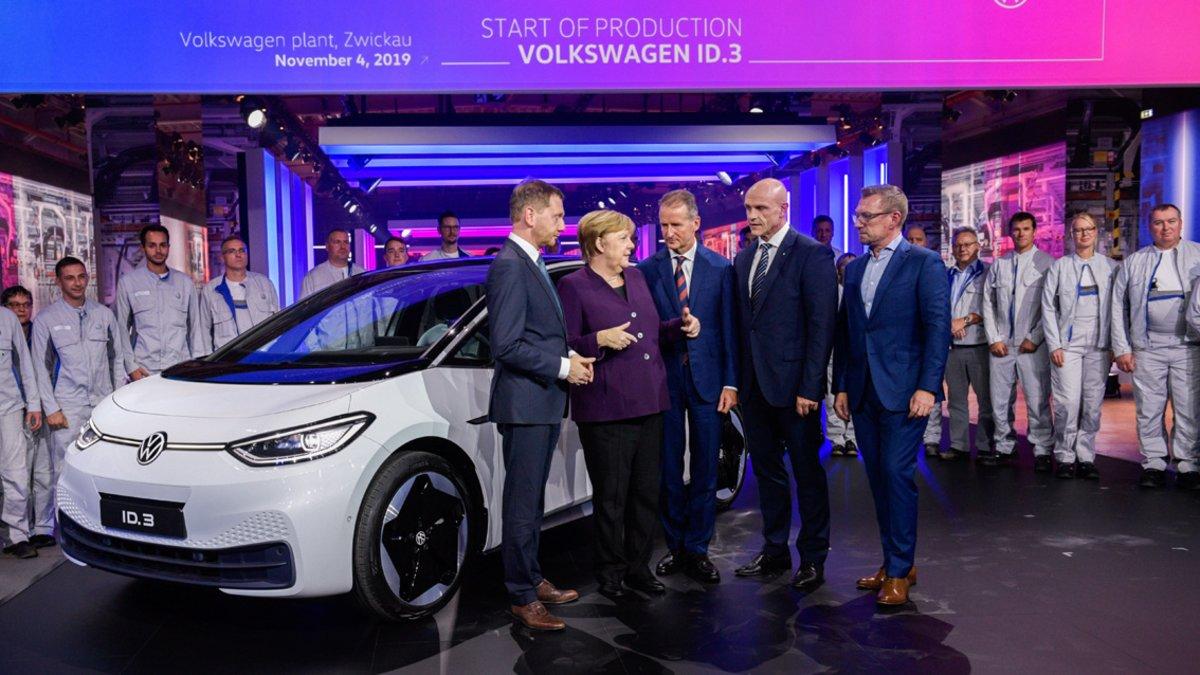 Puesta de largo de la fábrica de Zwickau con el Volkswagen iD.3.