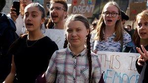 La activista adolescente por el cambio climático Greta Thunberg, en París.