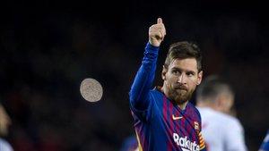 Messi marca el gol 400 de la Lliga