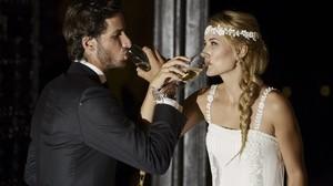 Feliciano López y Alba Carrillo, el día de su boda, el año pasadoen Toledo.