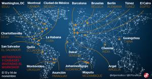 Conjunto de áreas metropolitanas y ciudades que participan en el workshop del AMB del próximo 13 y 14 de noviembre.