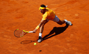 Tennis - ATP World Tour Masters 1000 - Italian Open - Foro Italico, Rome, Italy - May 19, 2018 Spains Rafael Nadal in action during his semi final match against Serbias Novak Djokovic REUTERS/Tony Gentile