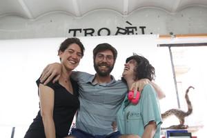 De izquierda a derecha, Carla Besora, Jordi Oms y Olga Capdevila