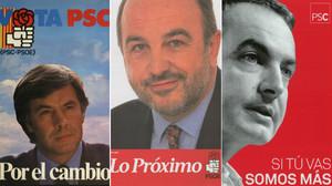 Los carteles del PSOE y el PSC para las elecciones generales desde 1982