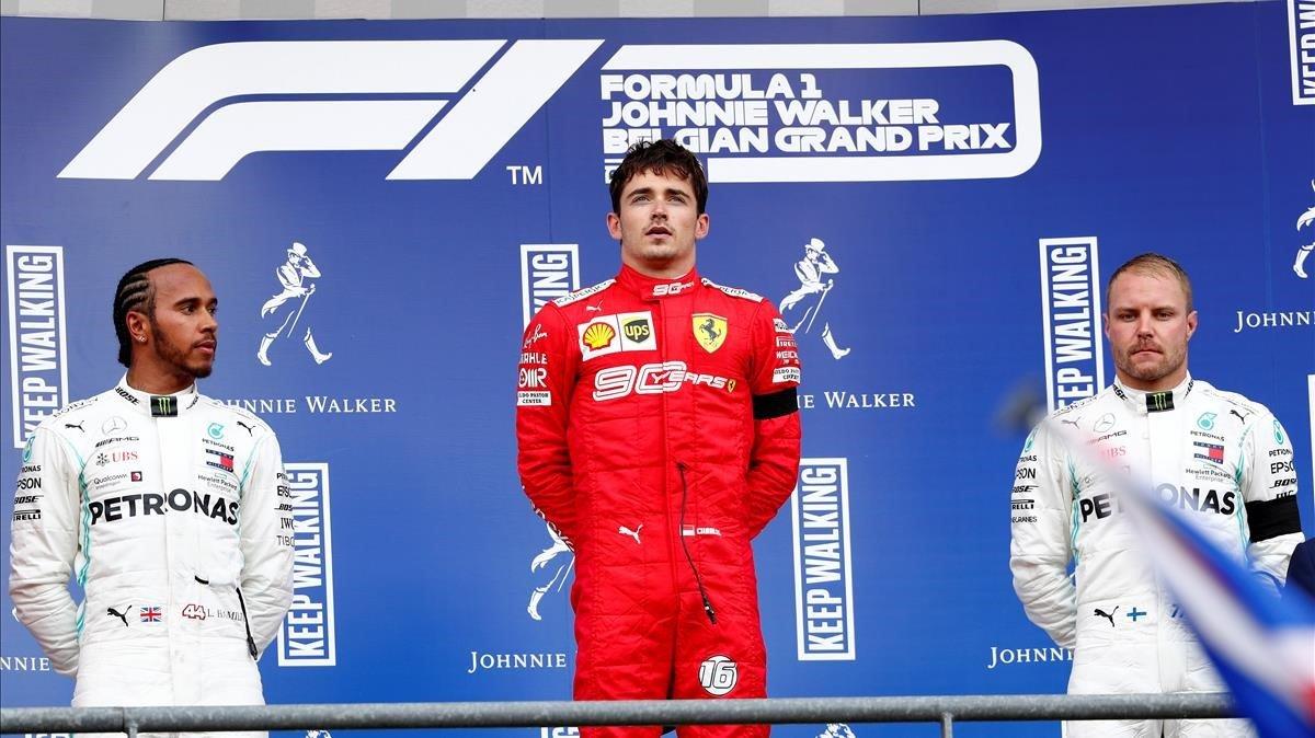 Charles Leclerc (Ferrari) gana en Spa-Francorchamps el GP de Bélgica, su primera carrera en la F1.