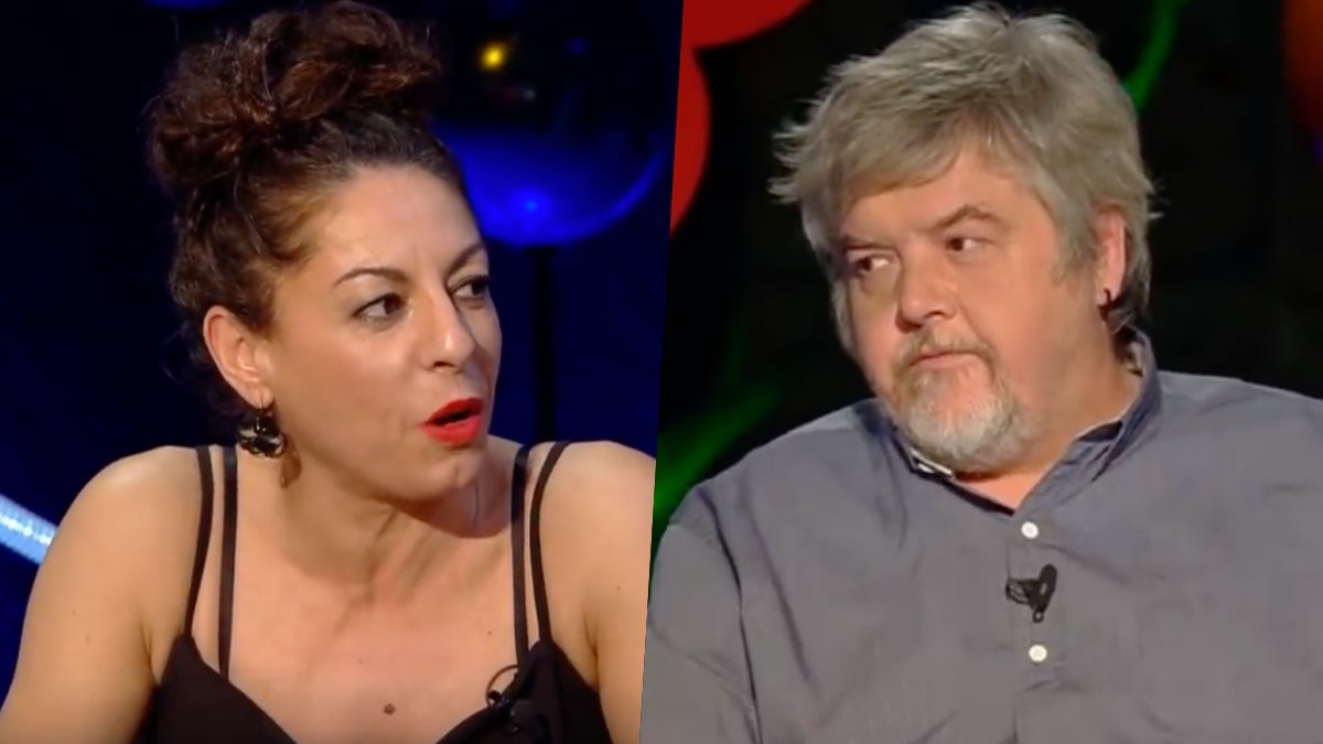 Cristina Medina y Javier Coronas en 'Ilustres Ignorantes'.